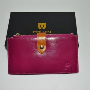 Peiujin Genuine Leather Card Wallet Organizer